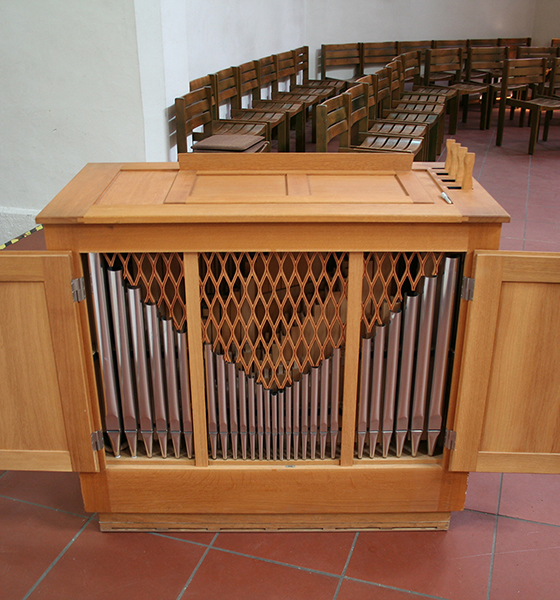 Orgelbau Kaps, Truhenorgel, evangelische Christuskirche, München